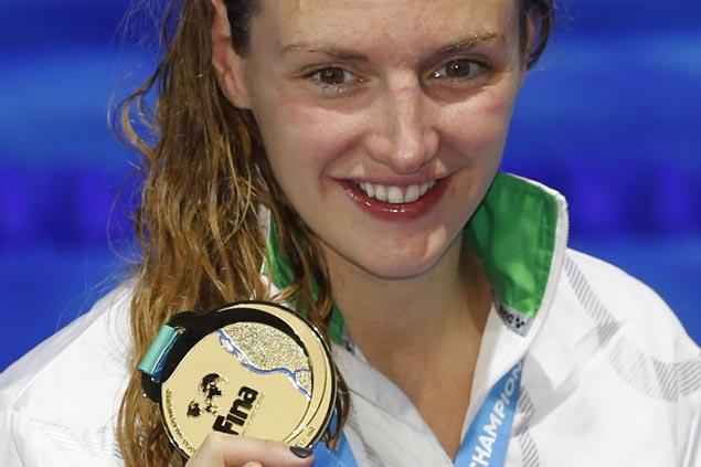 Hungary's Iron Lady Katinka Hosszu grabs spotlight at world championships as Katie Ledecky gets night off