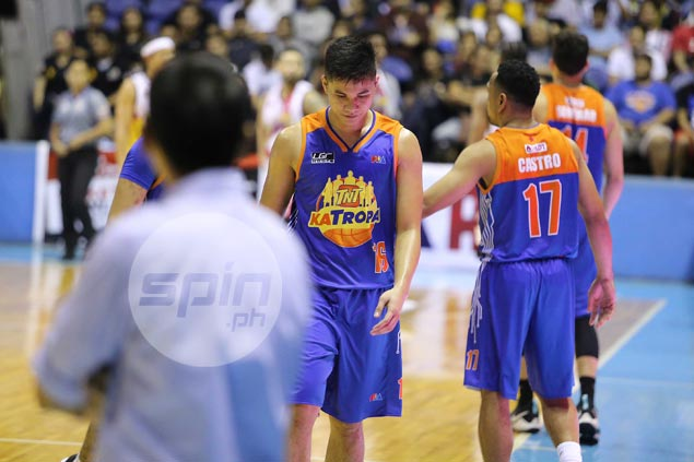 Rookie Roger Pogoy not backing down in heated TNT rivalry against San Miguel