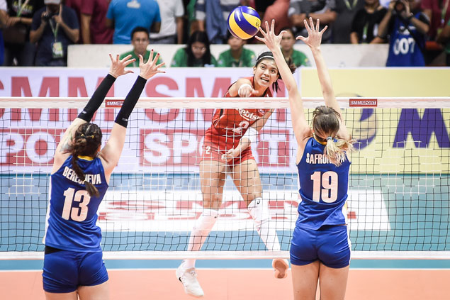 Pinay volleybelles in high spirits despite going to quarterfinals fresh from Kazakhstan loss