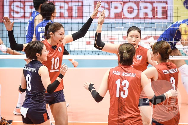 Korea stays unscathed as Japan, China seal semis duel in Asian women's volley tilt