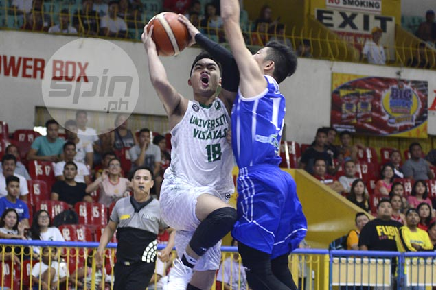 Baby Lancers avert collapse, hold off Magis Eagles to stretch streak to three, gain share of lead