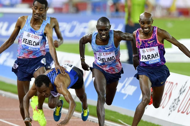 Mo Farah makes a success of his final track race