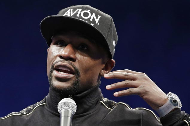 Floyd Mayweather gets a knockout that helps erase the stain from his fight with Manny Pacquiao