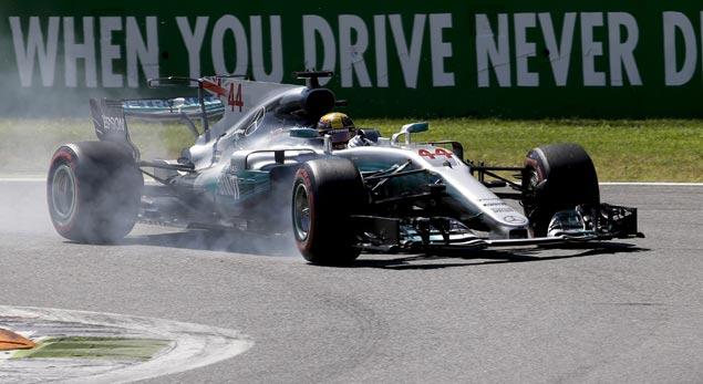 Lewis Hamilton cruises to victory in Italian Grand Prix to take F1 championship lead