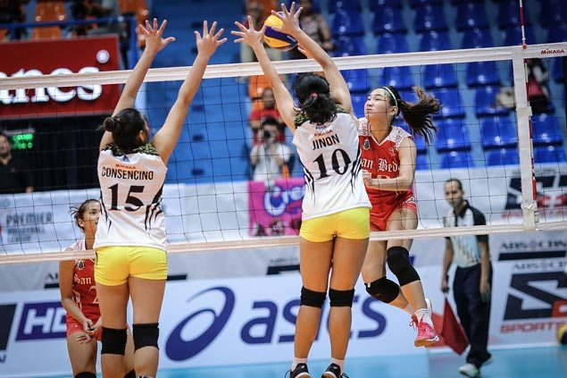 Arellano Lady Chiefs, San Beda Lady Red Spikers dispute group lead in PVL Collegiate Conference