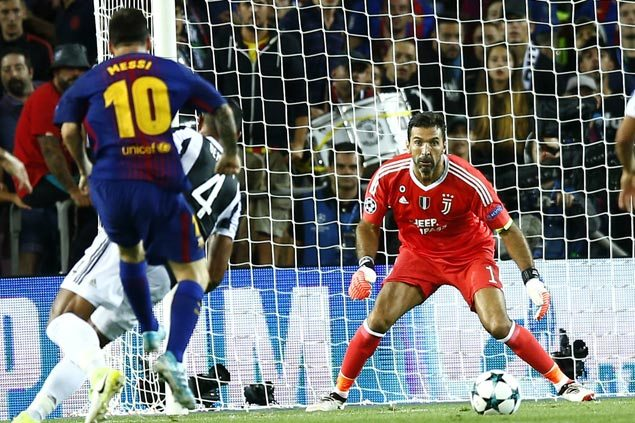 Lionel Messi strikes twice against Gianluigi Buffon as Barcelona defeats Juventus