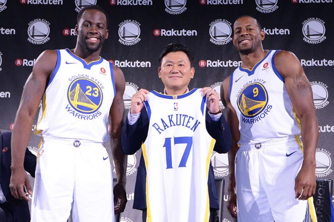 Golden State Warriors Jerseys to Feature Rakuten Badge