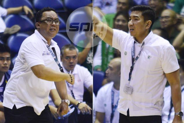 Aldin Ayo, Jamike Jarin trade compliments after thrilling first battle in UAAP for former NCAA rivals