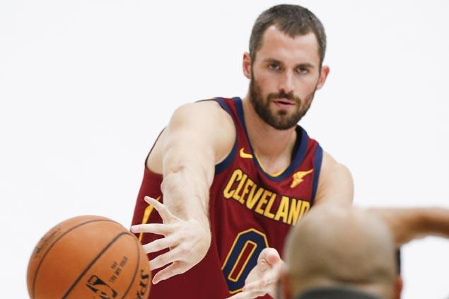 Kevin Love might start at center for Cavaliers this season