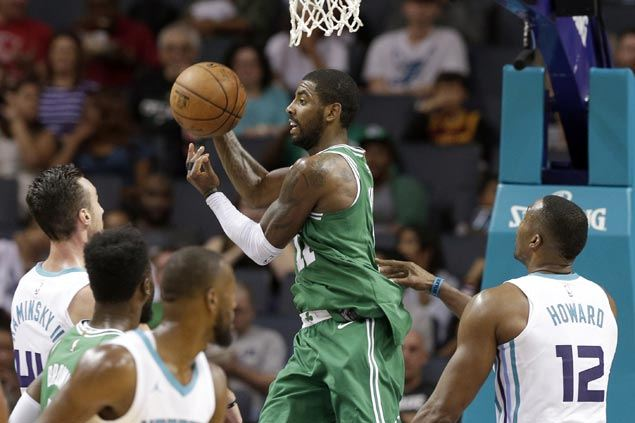 Kyrie Irving posts double-double as Celtics down Hornets to wrap up unbeaten preseason