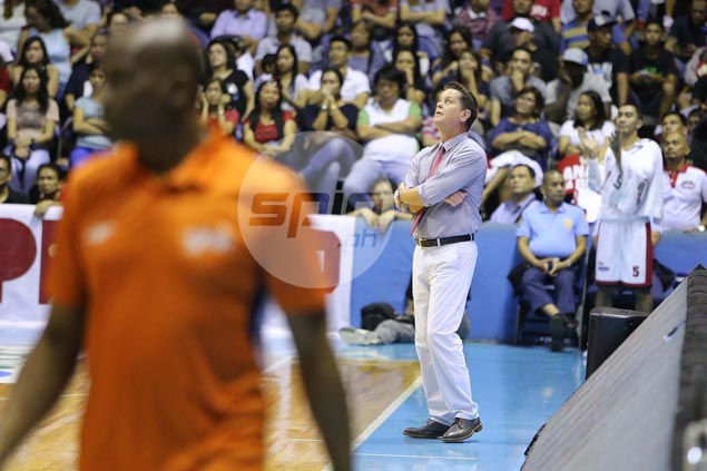Ginebra coach expects beleaguered Meralco to come out swinging in Game Three