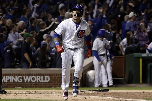 Javier Baez ends slump with two homers as Cubs nip Dodgers to avert sweep