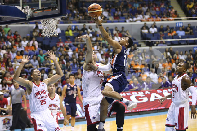 Meralco outduels Ginebra in helter-skelter ending, squares PBA Finals at 2-all