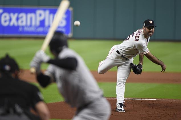 Justin Verlander keeps unbeaten run and Astros down Yankees to force ALCS decider