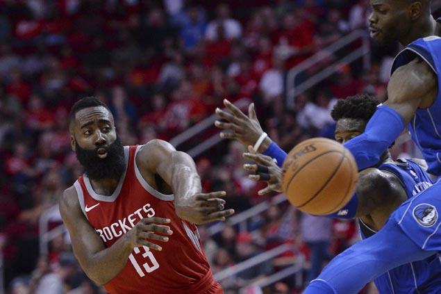 Rockets make it three straight wins to start season with rout of Mavericks