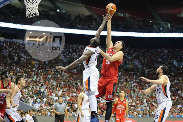 Ginebra bounces back to dominate Meralco in Game 5, takes 3-2 lead in PBA Finals
