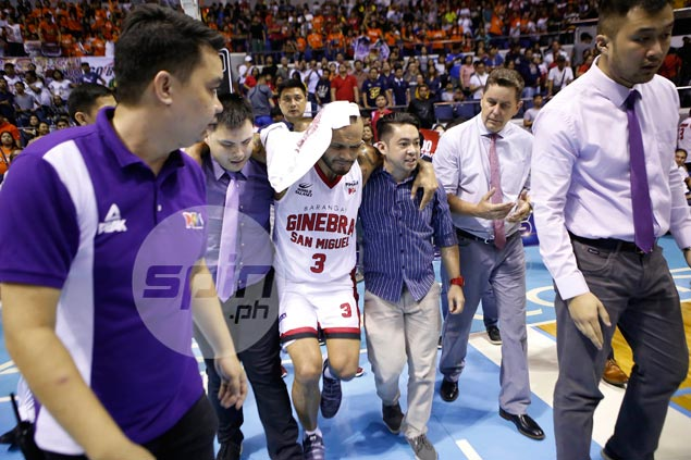 Mercado uncertain if he can still regain fitness in time to rejoin Ginebra in PBA finals