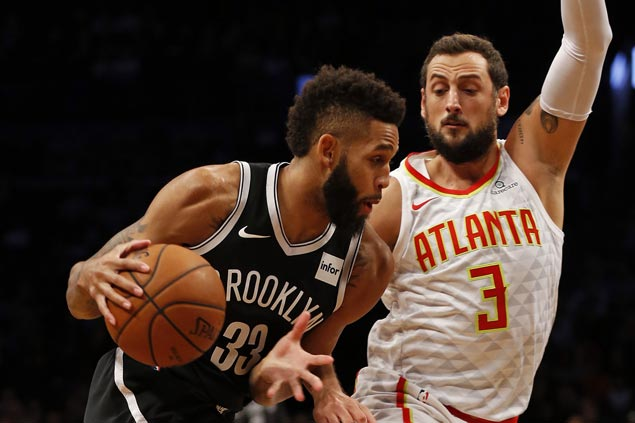 Allen Crabbe stars as Nets make it two straight wins and send Hawks to second consecutive loss