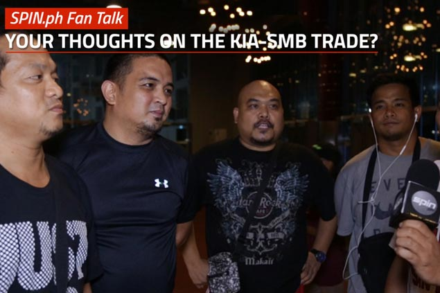 Find out what PBA fans have to say about controversial SMB-KIA trade. WATCH