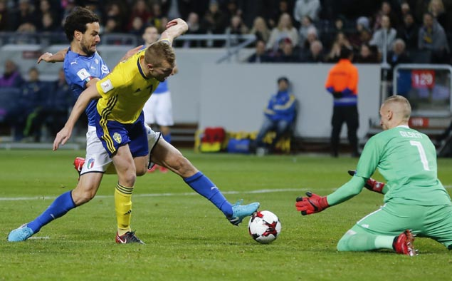 Sweden moves closer to World Cup, pushes Italy to the brink of elimination