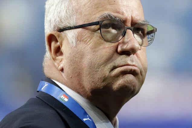 Italy football chief Carlo Tavecchio ignores calls for resignation but fires coach Gian Piero Ventura