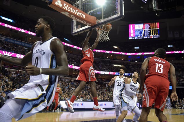 Rockets take control early and cruise to victory over struggling Grizzlies