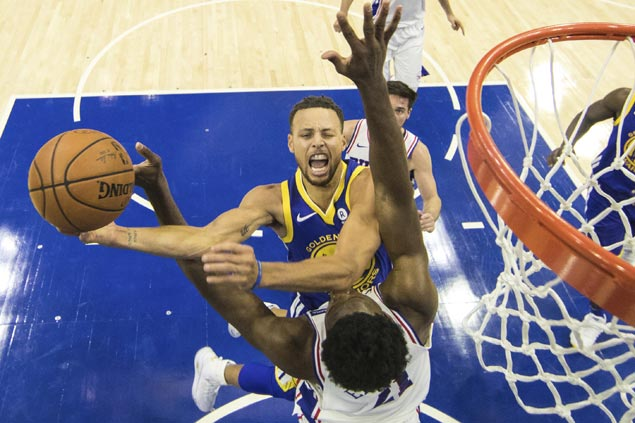 Warriors catch fire in second half to erase 22-point deficit and rip 76ers