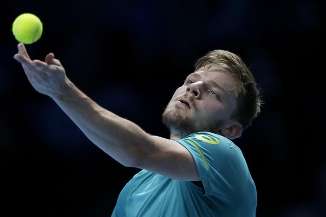 David Goffin stuns Roger Federer to set up title showdown with Grigor Dimitrov in ATP Finals