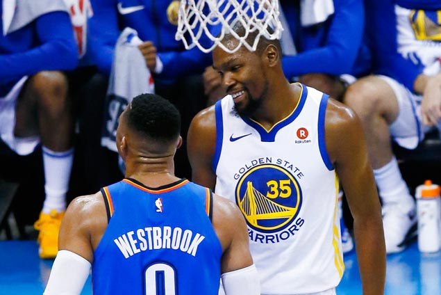 Westbrook on jawing with KD: 'On the court I have no friends ... only friend I have is the basketball'