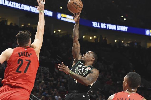 Middleton, Bledsoe, Antetokounmpo combine for 71 as Bucks halt Blazers three-game win run