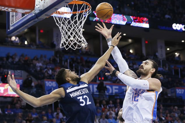 Thunder's Steven Adams notches a new career-high 27 points on Friday