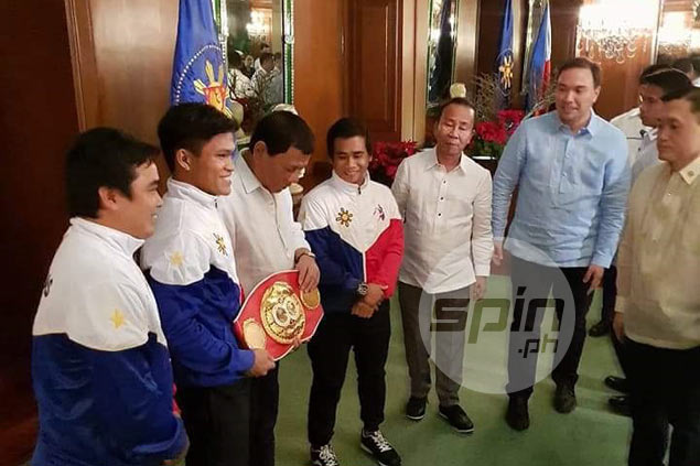 World champ Jerwin Ancajas left star-struck after courtesy call on President Duterte