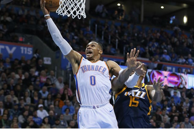 Westbrook's triple-double leads Thunder past Jazz