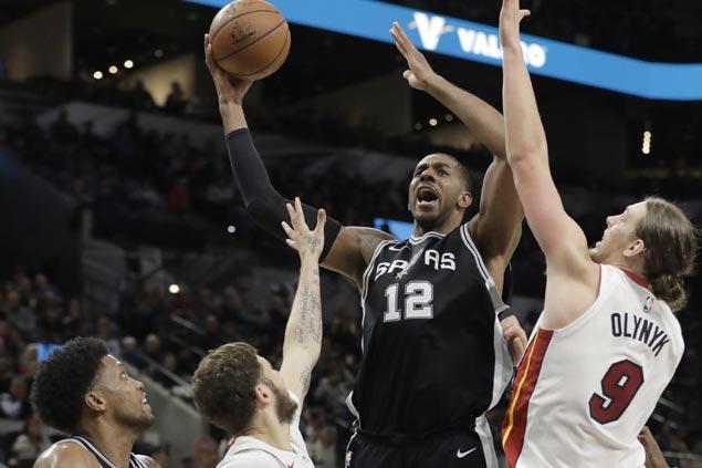 LaMarcus Aldridge leads balanced attack as Spurs assert mastery over skidding Heat