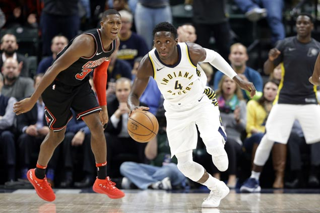 Victor Oladipo rescues Pacers as Bulls blow 17-point lead to sink to 10th straight loss