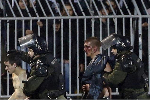 Fan brawl in Belgrade rivals Red Star-Partizan match leaves 20 people injured, 26 arrested