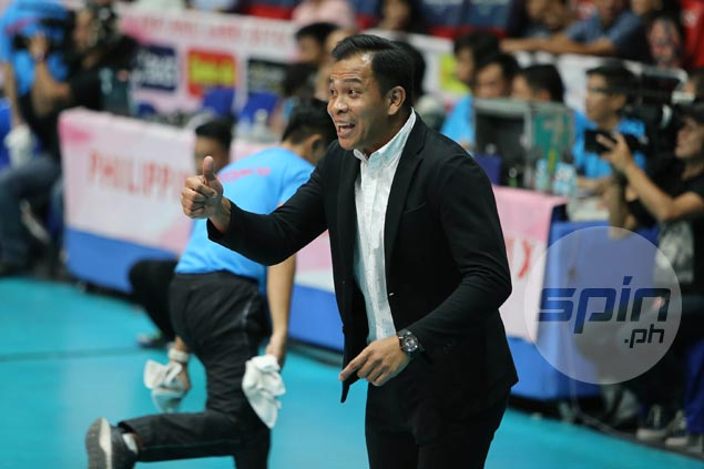 Petron coach vows not to make same mistake of celebrating too early in finals decider vs F2