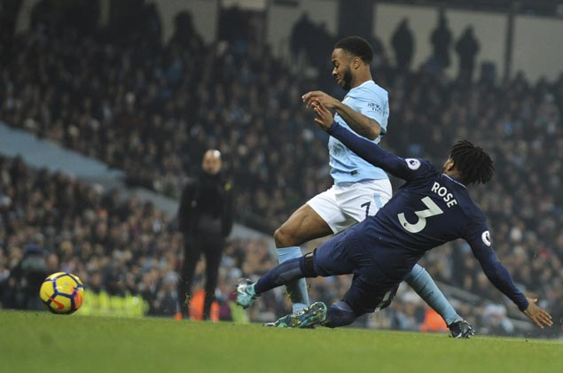 Raheem Sterling nets brace as Man City routs Tottenham to make it 16 straight wins