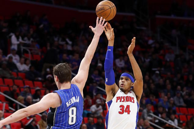 Hot-shooting Pistons tie franchise record 17 triples in win over undermanned Magic