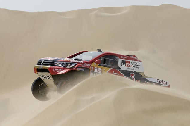 Nasser Al-Attiyah sets pace with solid run in opening round of tough Dakar Rally