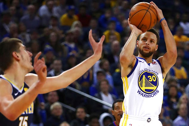 Nuggets learn Steph Curry need not be at his best to win games for Warriors