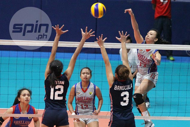 Arellano makes quick work of Letran to stretch unbeaten run to three in NCAA women's volleyball