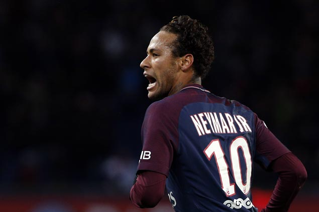 Neymar scores four but jeered by fans in another Paris Saint-Germain penalty controversy with Cavani