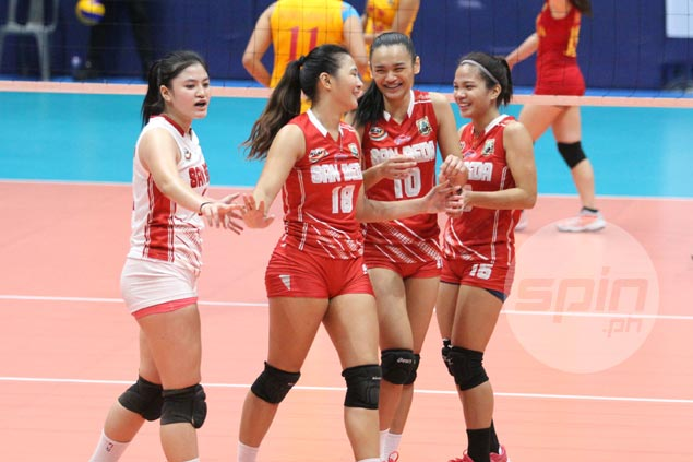 San Beda turns back winless Mapua to stretch unbeaten run to four in NCAA volleyball
