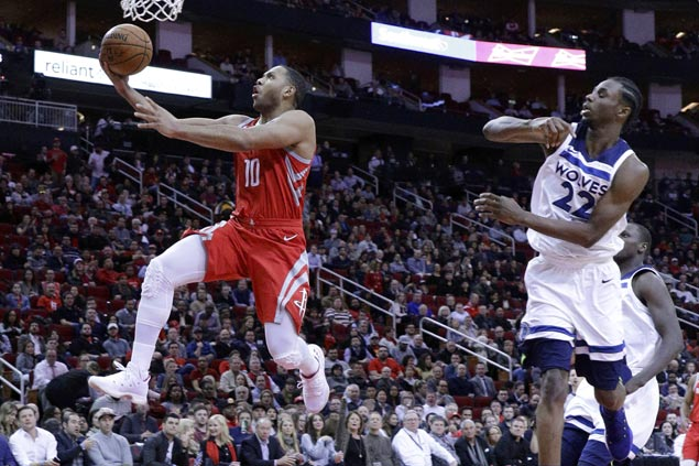 Eric Gordon leads hot-shooting Rockets romp over skidding Timberwolves as Harden rusty in return