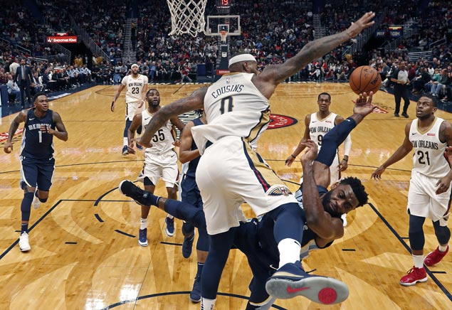 Jrue Holiday's late surge, Boogie and Brow's double-doubles power Pelicans past Grizzlies