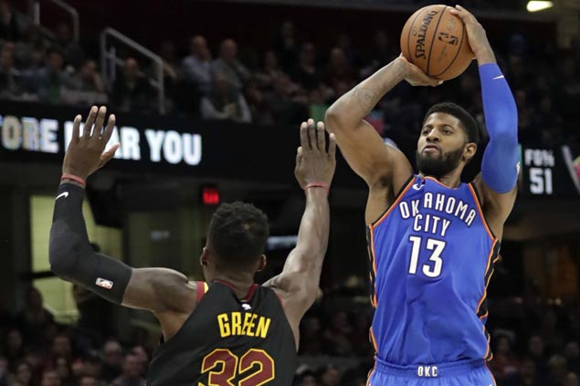 Paul George scores 36 as Thunder beat struggling Cavaliers by 24 points