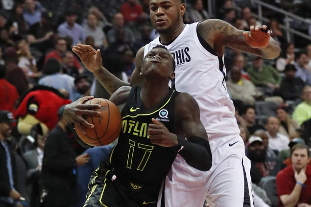Schroder's 22 points lead Hawks past struggling Grizzlies