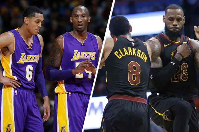 outlet store fdbb0 284cd Dad Mike says Jordan Clarkson  living a dream  with LeBron, Kobe team-ups