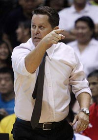 Tim Cone says he hasn't seen a shooter better than Caidic. Photo by Jerome Ascano